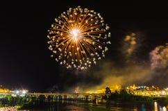 San Juan Fireworks 2017 Lizenzfreie Stockfotografie