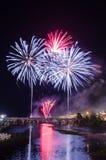 San Juan Fireworks 2017 stock afbeeldingen