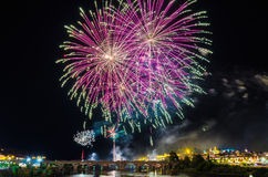 San Juan Fireworks 2017 foto de stock royalty free