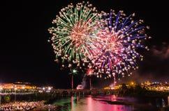 San Juan Fireworks 2017 fotografia de stock