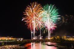 San Juan Fireworks 2017 imagens de stock royalty free
