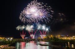 San Juan Fireworks 2017 stock foto's