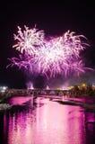 San Juan Fireworks 2017 royalty-vrije stock afbeelding