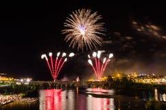 San Juan Fireworks 2017 stock foto