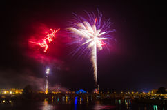 San Juan Fireworks at Badajoz Royalty Free Stock Photos