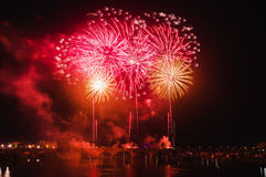 San Juan Fireworks at Badajoz, Extremadura, Spain Royalty Free Stock Images