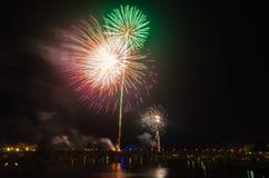 San Juan Fireworks at Badajoz Stock Image