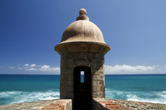 San Juan - Fort San Cristobal Guerite Royalty Free Stock Photography
