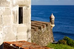 San Juan - Fort San Cristobal Look Out Royalty Free Stock Photography
