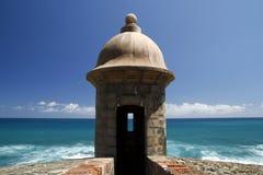 San Juan - fortaleza San Cristobal Guerite Fotografía de archivo libre de regalías