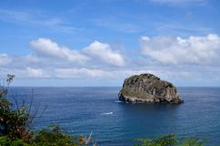 San Juan of Gastelugatxe. Basque Country. Spain. Beautiful beach with steep cliff that ends in the sea Royalty Free Stock Images