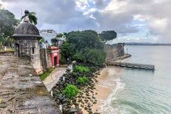 San Juan Gate - Puerto Rico Royaltyfri Fotografi