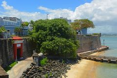 San Juan Gate and Sentry Box, San Juan. San Juan Gate Puerta de San Juan and Sentry Box, San Juan, Puerto Rico. Puerta de San Juan was built in the late 1700s to stock photography