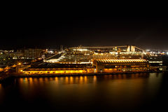 San Juan Harbor, Puerto Rico. Nighttime shot of the city of San Juan Harbor, Puerto Rico Stock Photos