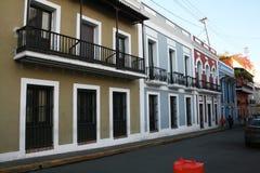 San juan homes. The typical colonial spanish houses of san juan de puerto rico stock images