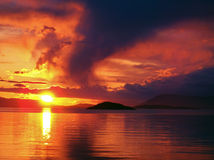 San Juan Island Sunset Fotografía de archivo