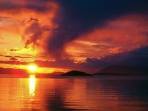San Juan Island Sunset. Stock Photography