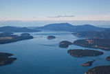 San Juan Islands Aerial View Stock Photography