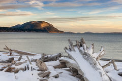 San Juan Islands Snowfall Stock Photography