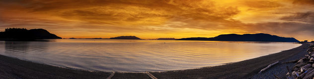 San Juan Islands Sunset Stock Photos