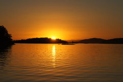 San Juan Islands sunset Stock Photography