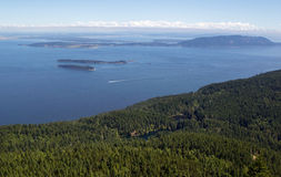 San Juan Islands and Twin Lakes in Washington State on a summer stock image