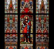 San Juan, la ventana de cristal baptista, manchada foto de archivo libre de regalías