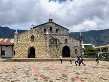 San Juan los angeles Laguna, Jeziorny Atitlan, Gwatemala - May 20th, 2016 A obrazy royalty free