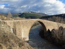 San Juan medieval bridge - Spain. San Juan medieval bridge in Jaca, Huesca - Aragón - Spain Stock Images