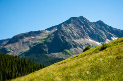 San Juan Mountain Range Slope Summer Mountainscape Royalty Free Stock Images