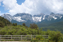 San Juan Mountains. Peaks of the San Juan Mountains as seen from Ouray County Road 5 Stock Photography
