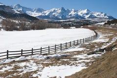 San Juan Mountains. Winter landscape near Ridgway, Colorado Royalty Free Stock Photo