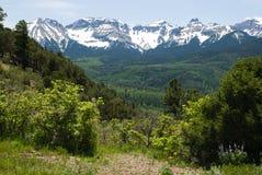 San Juan Mountains. Snowy peaks of the San Juan Mountains near Ridgway, Colorado in early summer Royalty Free Stock Photo