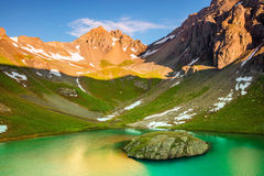 San Juan Mountains alpine lake. Stock Photo