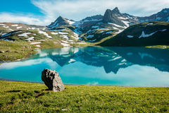 San Juan Mountains alpine lake Stock Image