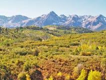 San Juan Mountains dichtbij Ouray, Colorado royalty-vrije stock foto's