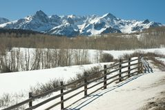 San Juan Mountains in March Stock Photography