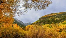 San Juan Mountains sobre el telururo, Colorado fotos de archivo libres de regalías