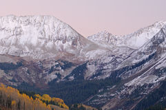 San Juan Mountains at Twilight Stock Images