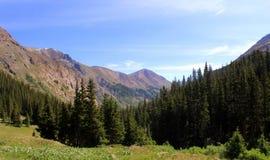 San Juan Mountains. The San Juan Mountains viewed from Cinnamon Pass in Colorado Royalty Free Stock Photos