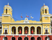 San Juan Old City Hall. Old San Juan City Hall in the Plaza de Armas in Puerto Rico during the Christmas Holiday royalty free stock photography