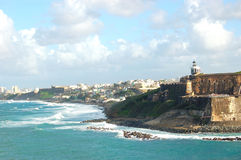 San juan,old and new. A part of san juan coast,old and new Royalty Free Stock Photo