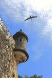 San Juan Paseo del Morro met Schildwacht Stock Afbeelding