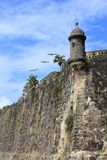 San Juan Paseo del Morro with Sentinel and Pellicans Royalty Free Stock Images