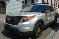 San Juan Police Car in San Juan, Puerto Rico Stock Image