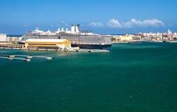 San Juan Port. Scenic view of cruise port and city of San Juan, Puerto Rico Stock Photo