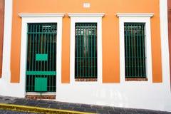 San Juan - portas e Windows Imagens de Stock