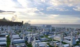 SAN JUAN, PORTO RICO - EM SETEMBRO DE 2017: Vista geral do Cementerio de Fotografia de Stock