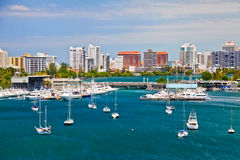 San Juan, PR - Beautiful San Juan Bay Vista Stock Image