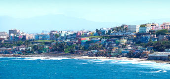 San Juan Puerto Rico. Old San Juan coastal homes, Puerto Rico, West Indies, Caribbean Stock Photos